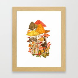The Mushroom Gatherers  Framed Art Print