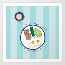 Having Brunch Art Print