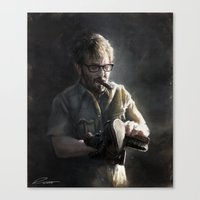 marc allante Canvas Prints featuring Marc Maron by Pavel Sokov