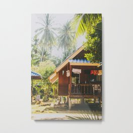 Koh Tao Beach House Metal Print