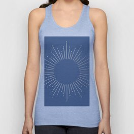 Simply Sunburst in Aegean Blue Unisex Tank Top