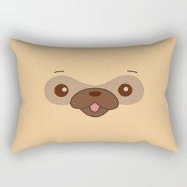 Kawaii Cute Pug Rectangular Pillow