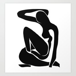 Matisse Cut Out Figure #1 Black Art Print