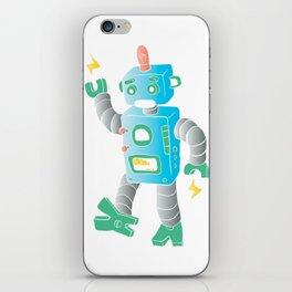cartoon toy robot. iPhone Skin