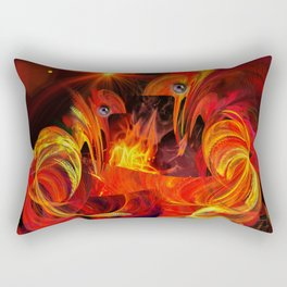 Two fiery rooster Rectangular Pillow