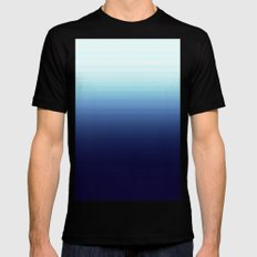 Nautical Blue Ombre Mens Fitted Tee MEDIUM Black
