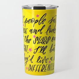 Look at the Stars - Yellow, Pink & Blue Travel Mug