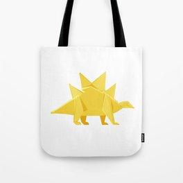 Origami Stegosaurus Flavum Tote Bag