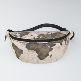 Coffee World Map Fanny Pack