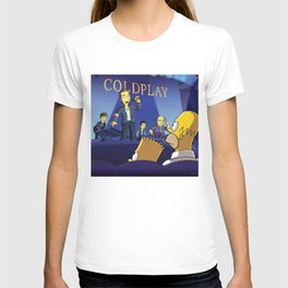 cold play simpson T-shirt