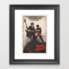 Mad Punk / A tribute to Daft Punk Framed Art Print