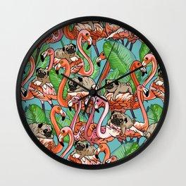 Flamingo Party Wall Clock