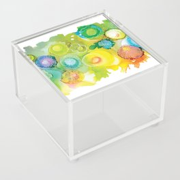 Alcohol Ink - Rainbow Landscape Acrylic Box