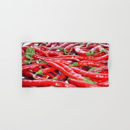 Market Fresh Red Chili Peppers Hand & Bath Towel