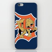detroit iPhone & iPod Skins featuring Detroit Rancors by Ant Atomic