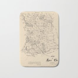 Map of Lee County, Texas (1879) Bath Mat