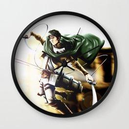 Levi attack of titan Wall Clock