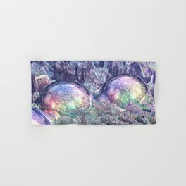 Reflecting Spheres In Space Hand & Bath Towel