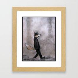 The Dandy Fox Goes For a Stroll Framed Art Print