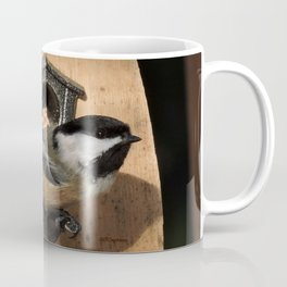 Black-Capped Chickadee at the Feeder Coffee Mug