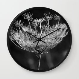 Withered pointed hogweed Wall Clock
