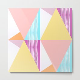 Triangular collage Metal Print