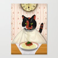 pasta Canvas Prints featuring Pasta! by Studio Holalola by Mariska Pool