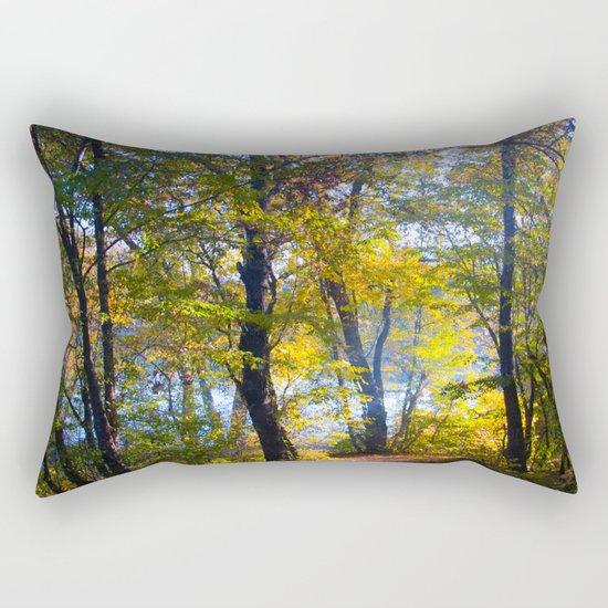 forest trail Rectangular Pillow