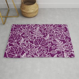 Plum Maple Leaves Rug