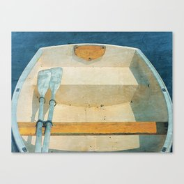 Yellow Boat Rowboat Canvas Print