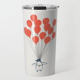 Penguin Balloons Travel Mug
