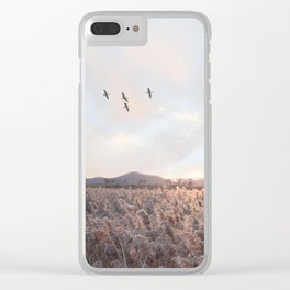 Wheat field Clear iPhone Case
