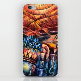 """Palm Court"" Painting iPhone Skin"