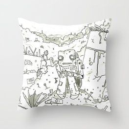 Junk Throw Pillow