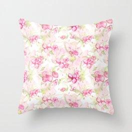 Cherry blossom pattern Throw Pillow