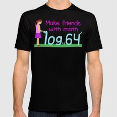Make Friends with Math Mens Fitted Tee MEDIUM Black