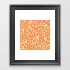 Orange Autumn Leaf Design  Framed Art Print