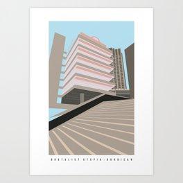 Brutalist London, The Barbican Art Print
