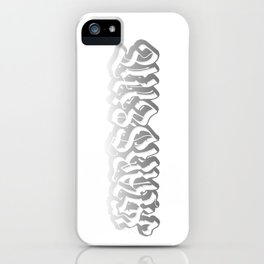 Black and White Marseille iPhone Case