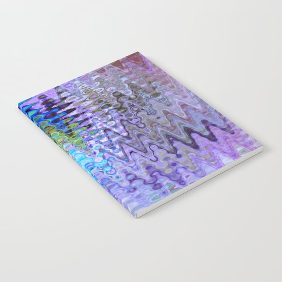 Charming Distractions, Abstract Art Waves Notebook
