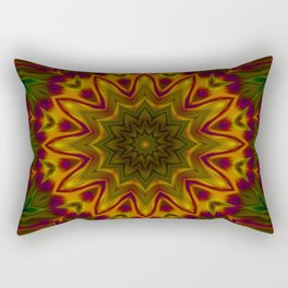 Red yellow mandala Rectangular Pillow