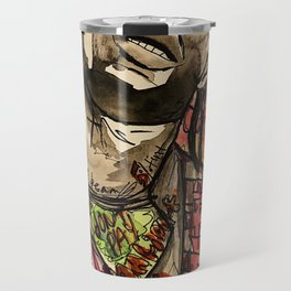 La flame,music,hiphop,poster,astro world,tour,wall art,artwork,painting,colourful Travel Mug