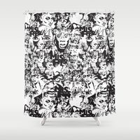 community Shower Curtains featuring Community Blowback by InariRaith