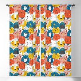 Monsters friends Blackout Curtain