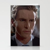 patrick Stationery Cards featuring Patrick Bateman by asvf