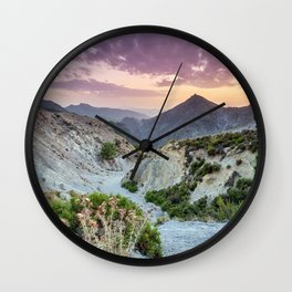 Arenales. River Dilar Valley. Summer sunset. Sierra Nevada Wall Clock