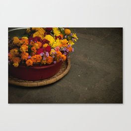 Flower power in the streets of Hoi An Canvas Print