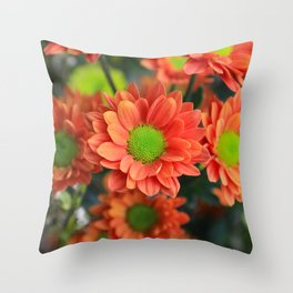 Sunflower Orange Throw Pillow