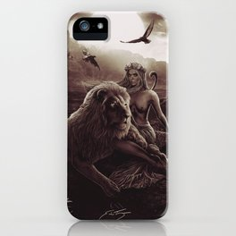 VIII. Strength Tarot Card Illustration (Warmth) iPhone Case