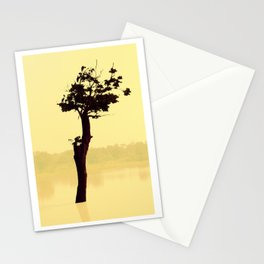 Power Tree Yellow Stationery Cards